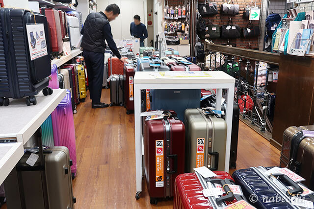 大阪なんば ジャガーカバン店 スーツケース売り場