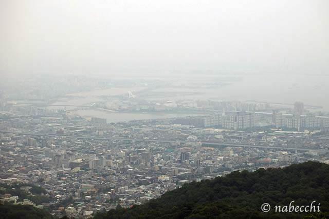 芦屋ロックガーデンから眺める神戸の景色