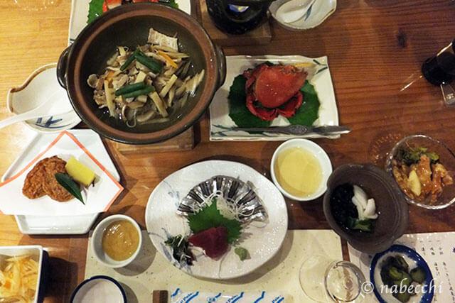 ホテル 屋久島山荘 夕食郷土料理