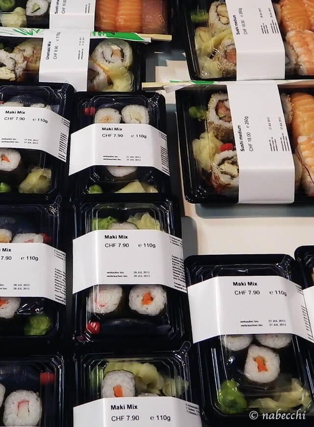 スイス スーパーマーケット コープCOOP 寿司コーナー