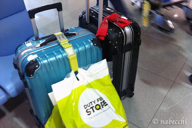 旅行帰り スーツケース