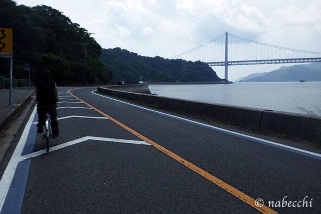 しまなみ街道サイクリングロード 因島大橋