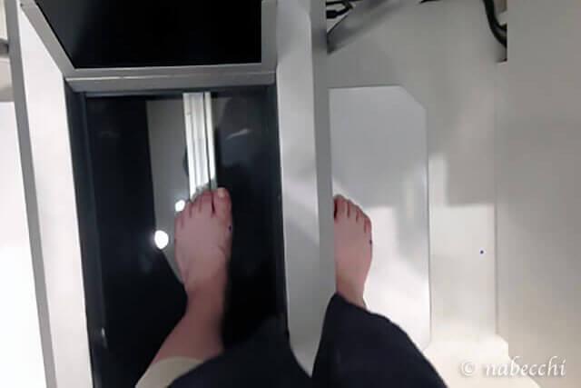 アシックス3次元足形計測機 体験