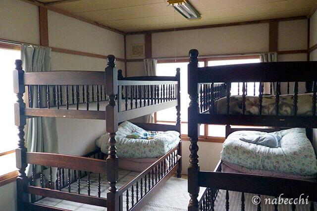 川湯温泉 宿「あさ寝坊」 2段ベッド