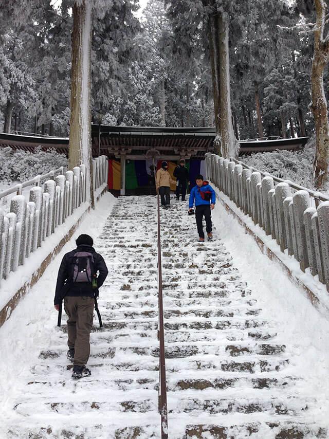 金剛山 雪の転法輪寺へお参り