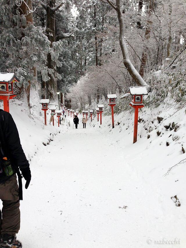 金剛山葛木神社 雪山参道