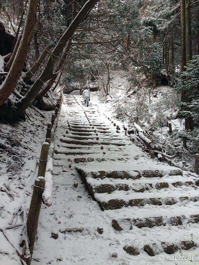 金剛山雪道