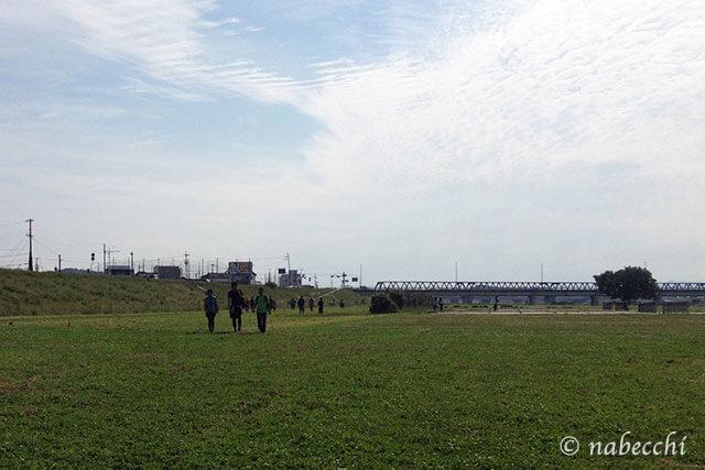 関西100kmウォーク 加古川河川敷