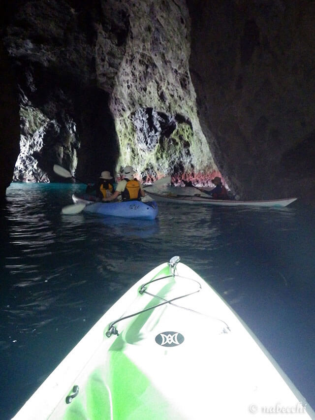 青の洞窟内 塩谷海