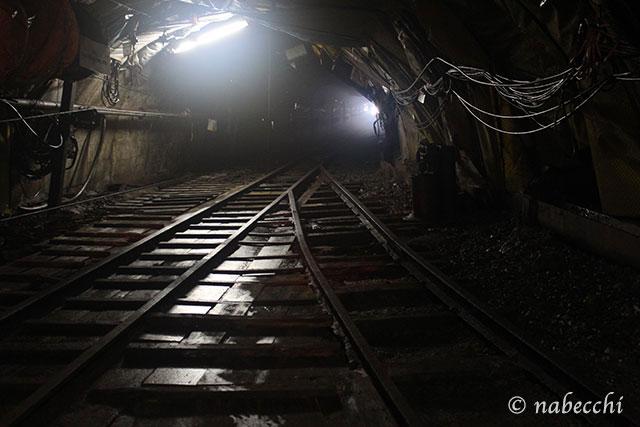池島炭鉱体験 線路