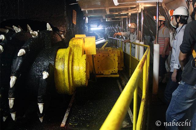ドラムカッター 池島炭鉱体験