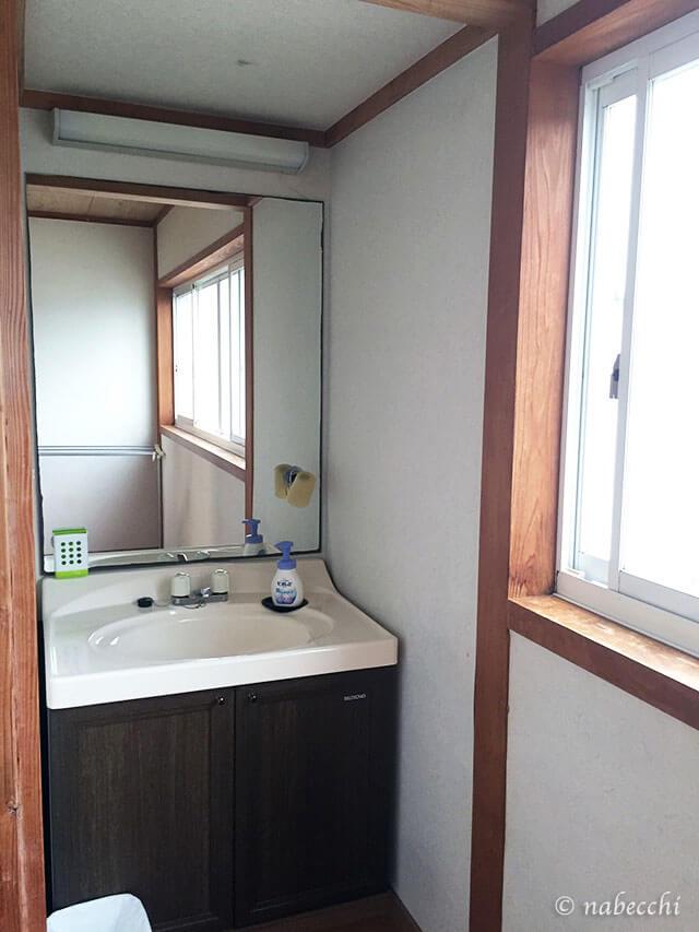 島宿「オープンハウス桜櫻」和室洗面