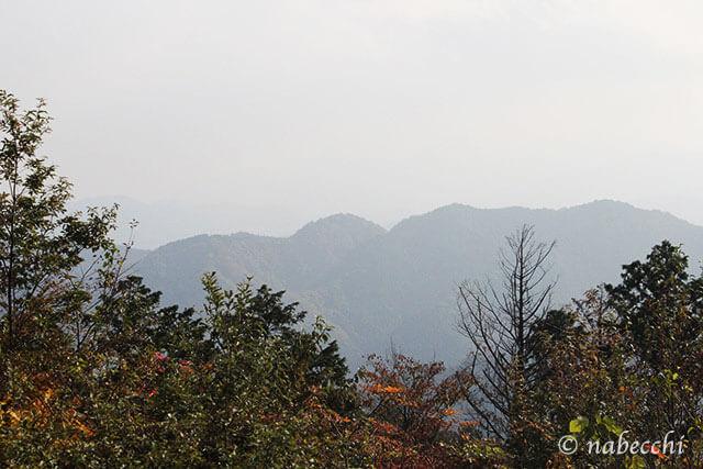 高尾山頂十三州見晴らし台