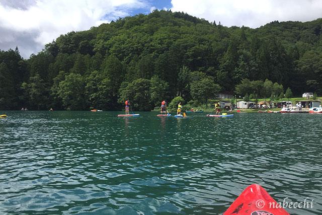 青木湖 SUP体験