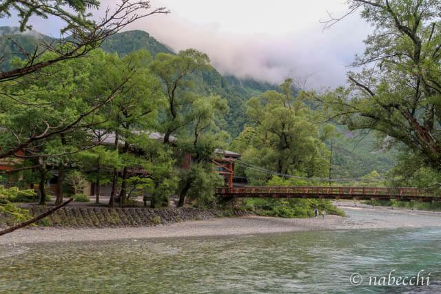 真夏の上高地 河童橋