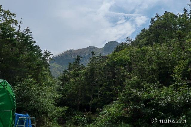 焼岳小屋からの眺め