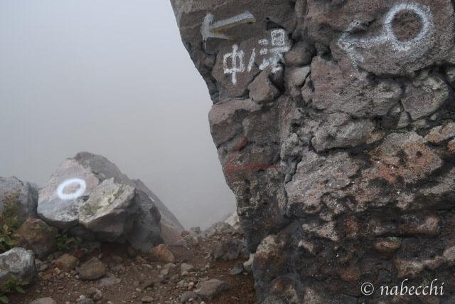 焼岳 中の湯と上高地分岐点