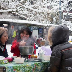 大阪金剛登山2020暖冬1月積雪15cm♪山頂で温か鍋パーティー