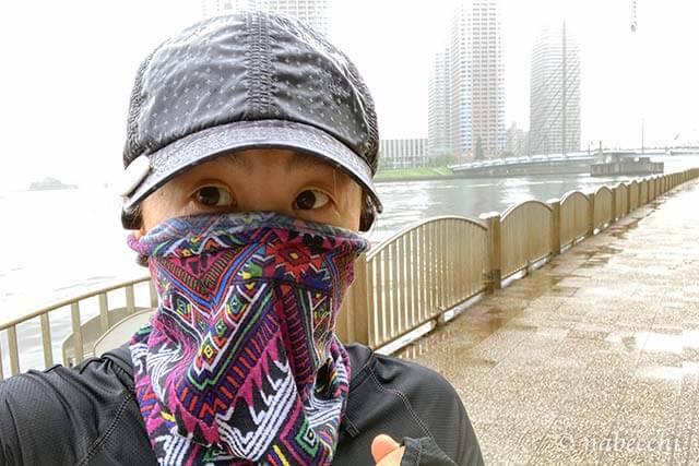 雨のジョギング